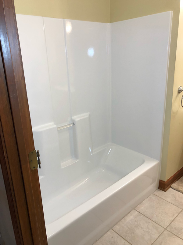 fiberglass shower refinishing reglazing